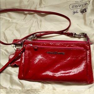 Coach red patent leather poppy crossbody